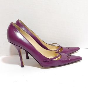 Jimmy Choo purple pointed toe heels
